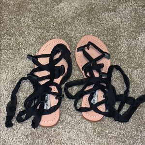 Lace up sandals from Steve Madden. Wore once!